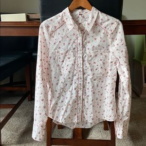 Free People floral collared shirt